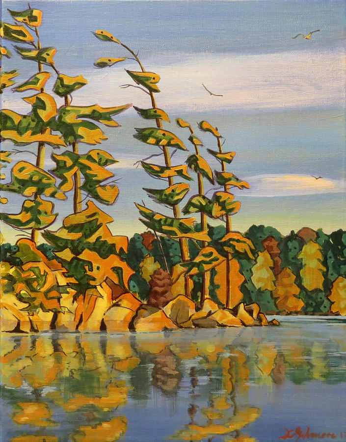 Snake Island in Fall Sunset by David Gilmore