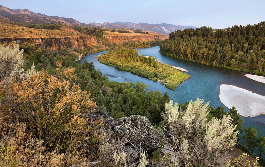Heise Photograph - Snake River - Heise Road by David Halter