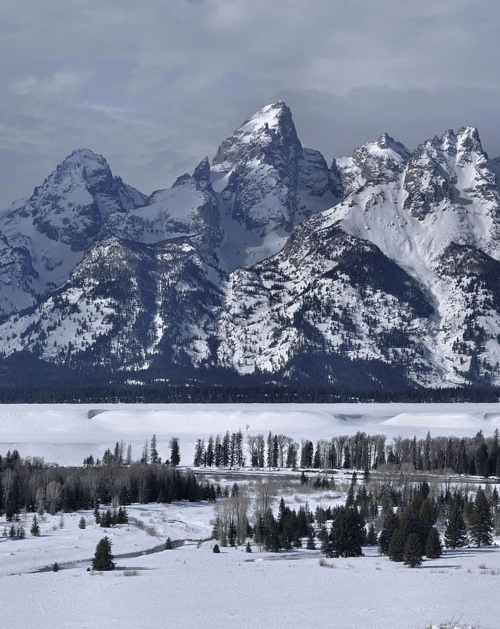 The Tetons Photograph - Snake River Overlook In Winter by Stephen  Vecchiotti