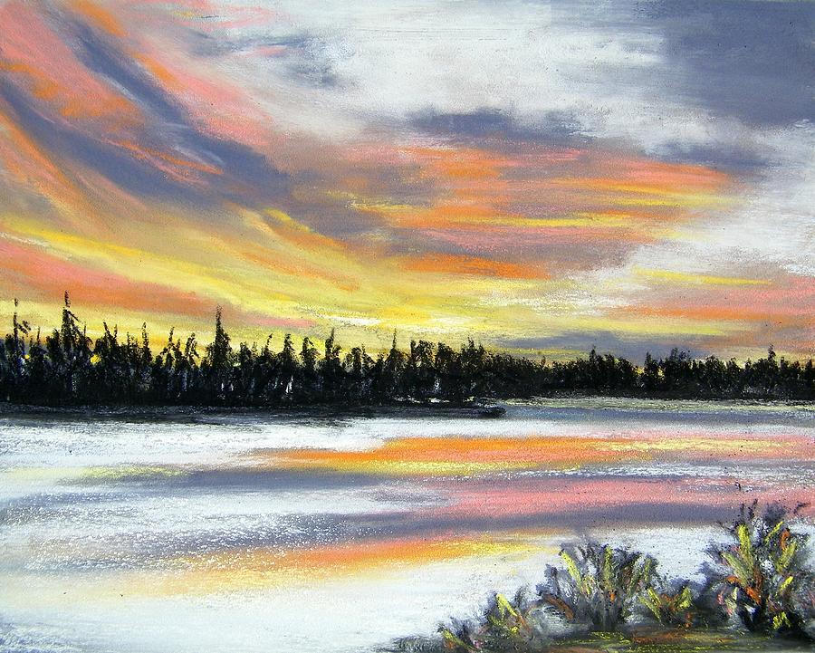 Sunset Pastel - Snake River Sunset by Gale Cochran-Smith