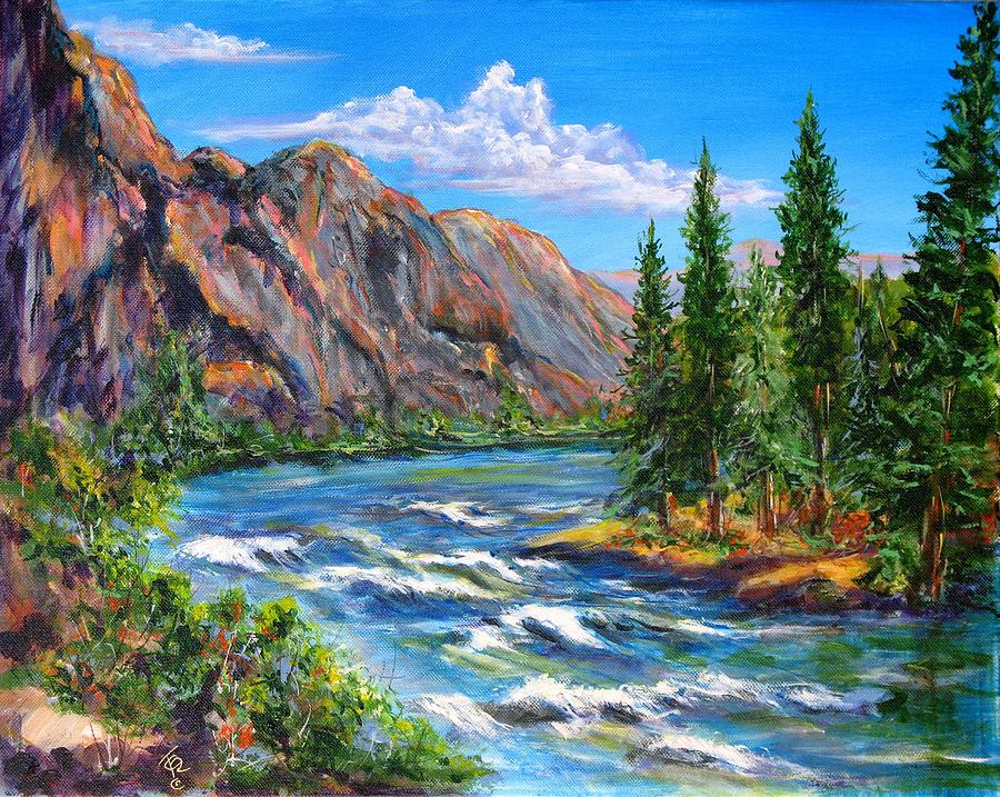 Landscape Painting - Snake River by Thomas Restifo