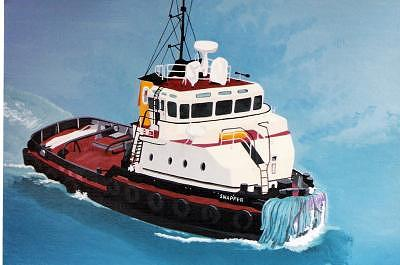 Snapper Tugboat Painting by David Ellis