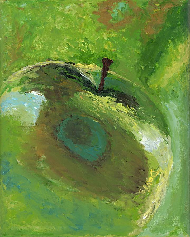 Food Painting - Snazzy Apple by Davis Elliott