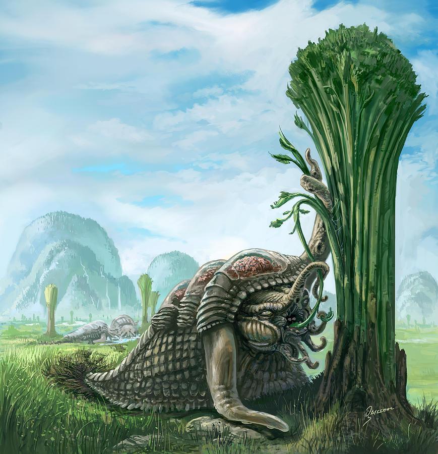 Creature Painting - Snelephant by Odysseas Stamoglou