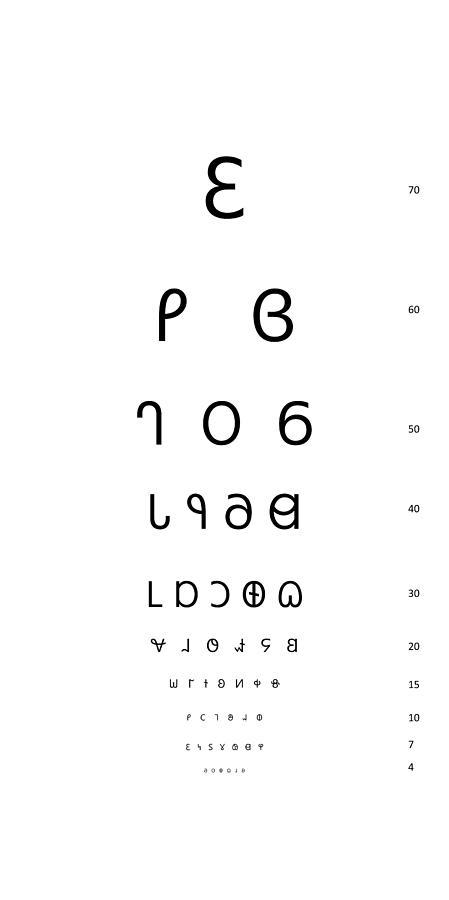 Snellen Eye Test Chart Dereset Digital Art By Deseret Alphabet
