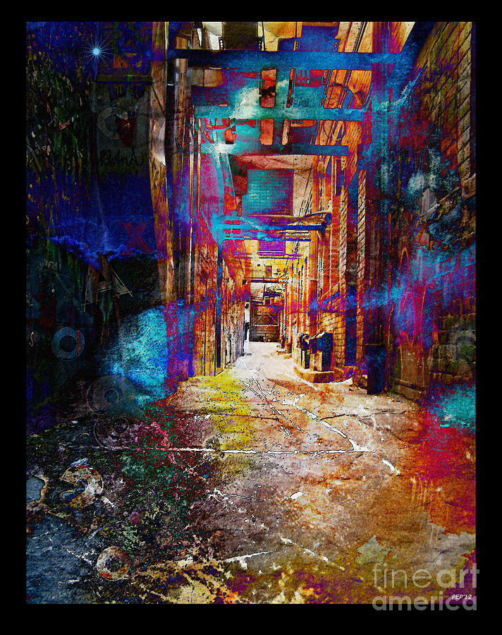Graphic Design Photograph - Snickelway Of Light by Phil Perkins