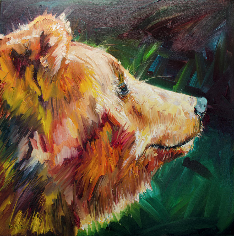 Sniff Bear Painting by Diane Whitehead