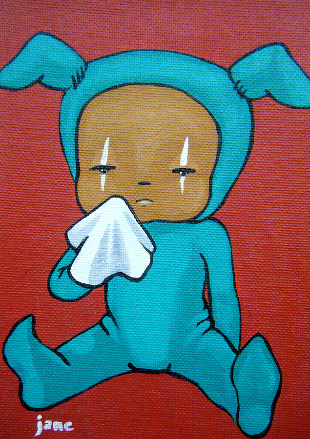 Sick Painting - Sniffles by Brittany Jane Boyd