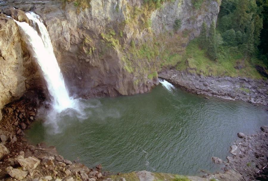 Falls Photograph - Snoqualmie Falls 3 by Steve Ohlsen