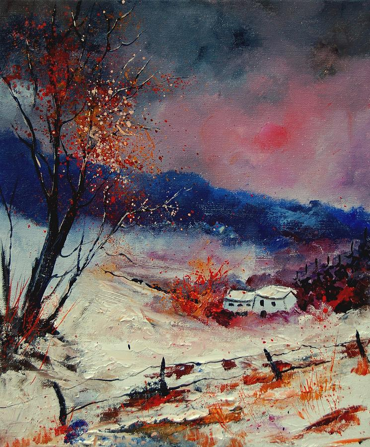 Winter Painting - Snow 569020 by Pol Ledent