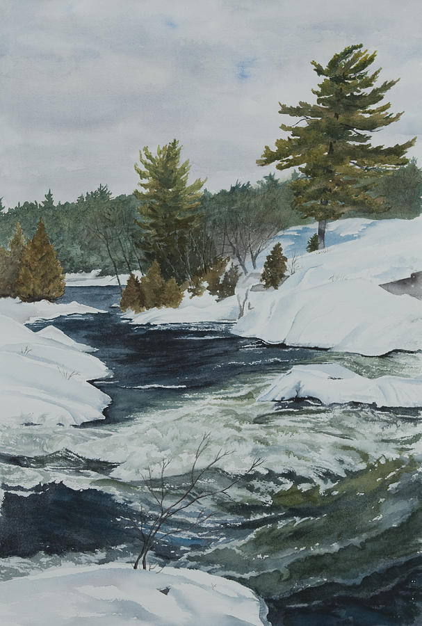 Snow Painting - Snow And Islands by Debbie Homewood
