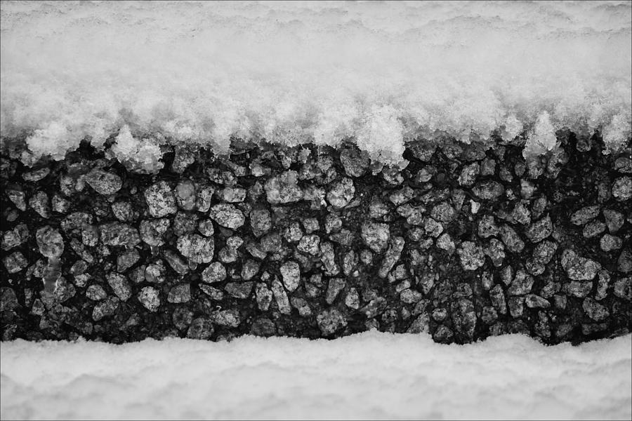 Snow And Stone Photograph
