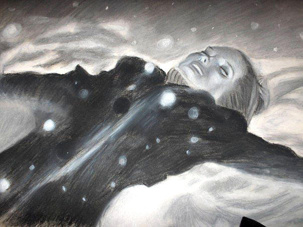 Image result for little girl in the snow black and white