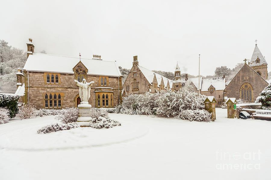 Winter Photograph - Snow At Pantasaph Friary by Adrian Evans