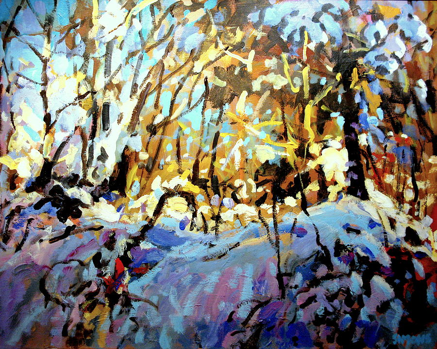 Landscape Paintings Painting - Snow Bank by Brian Simons