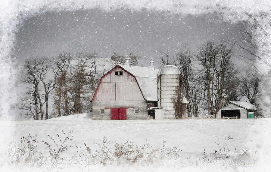 Snow Barn Photograph by Scott Fracasso