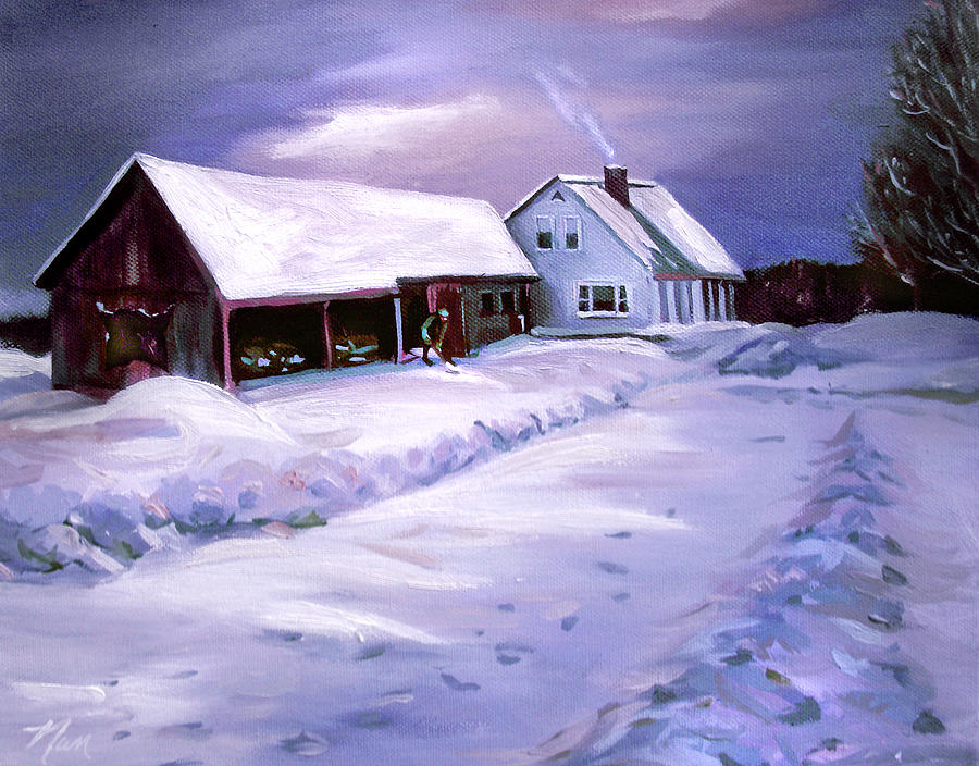 Snow Before Seven at Humpal's Home 2005 by Nancy Griswold