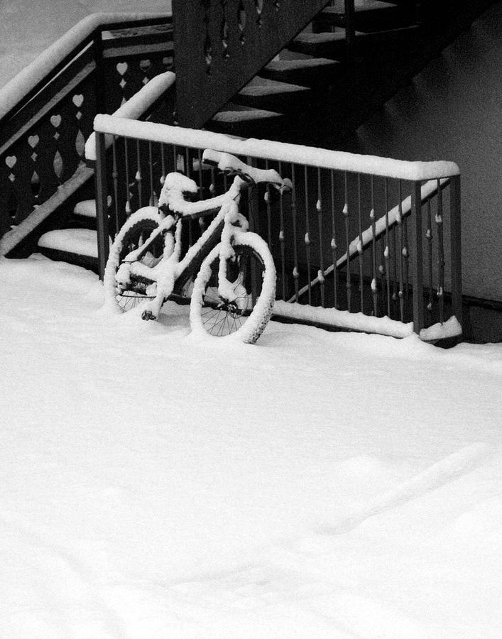 Bicycle Photograph - Snow Bike by Katarzyna Horwat