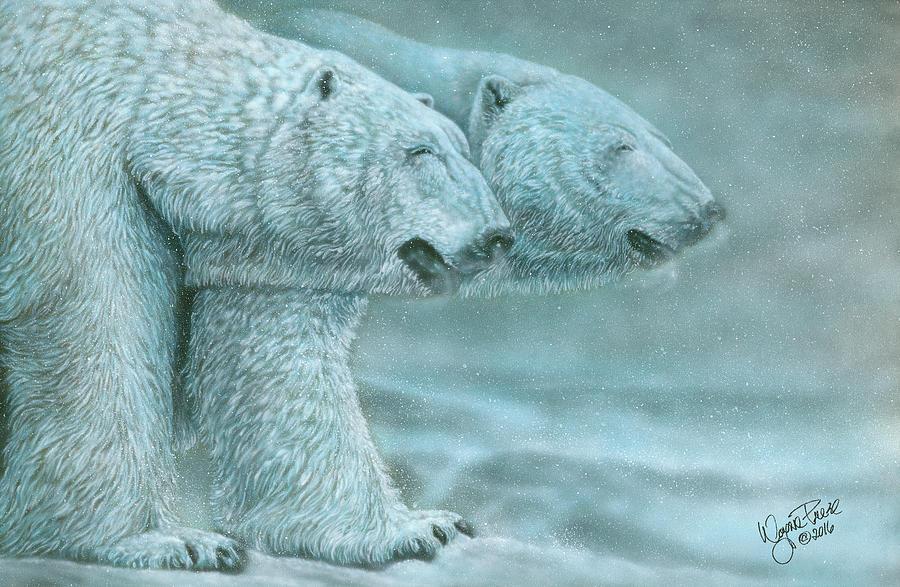 Polar Bears Painting - Snow Blind by Wayne Pruse