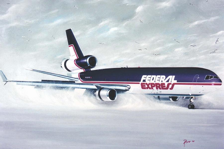 Md-11 Painting - Snow Blower by Peter Ring Sr