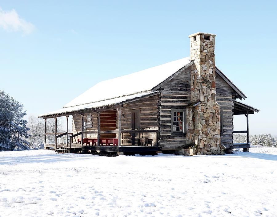 Snow Cabin Photograph