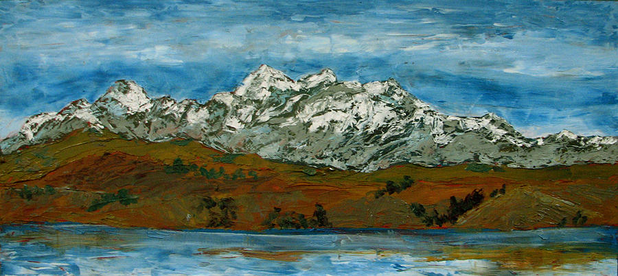 Mountain Painting - Snow Capped - Bolivia by Libby  Cagle