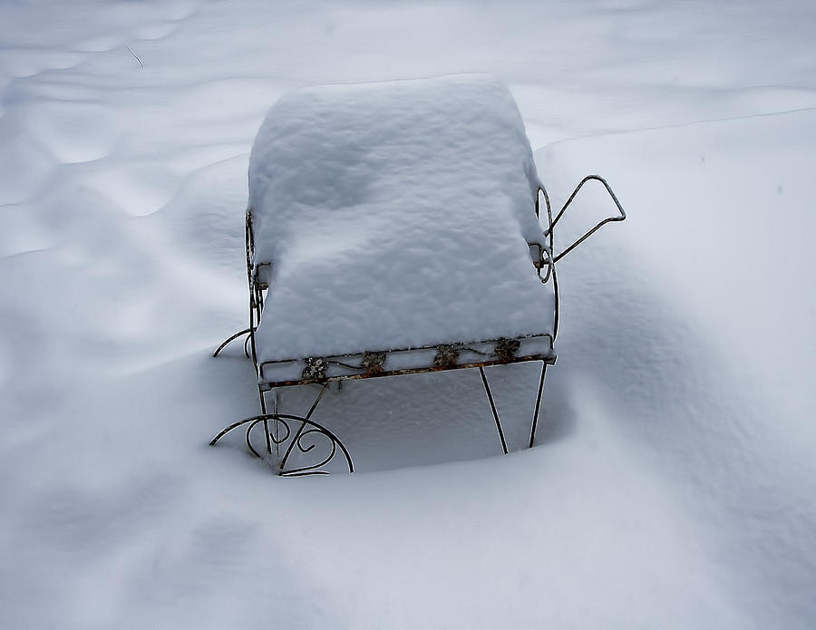Snow Photograph - Snow Cart IMG_2658 by Torrey E Smith