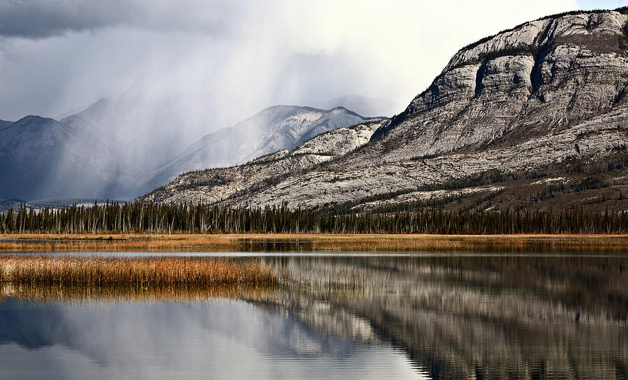 Snow Clouds In The Rocky Mountains Of Alberta Digital Art
