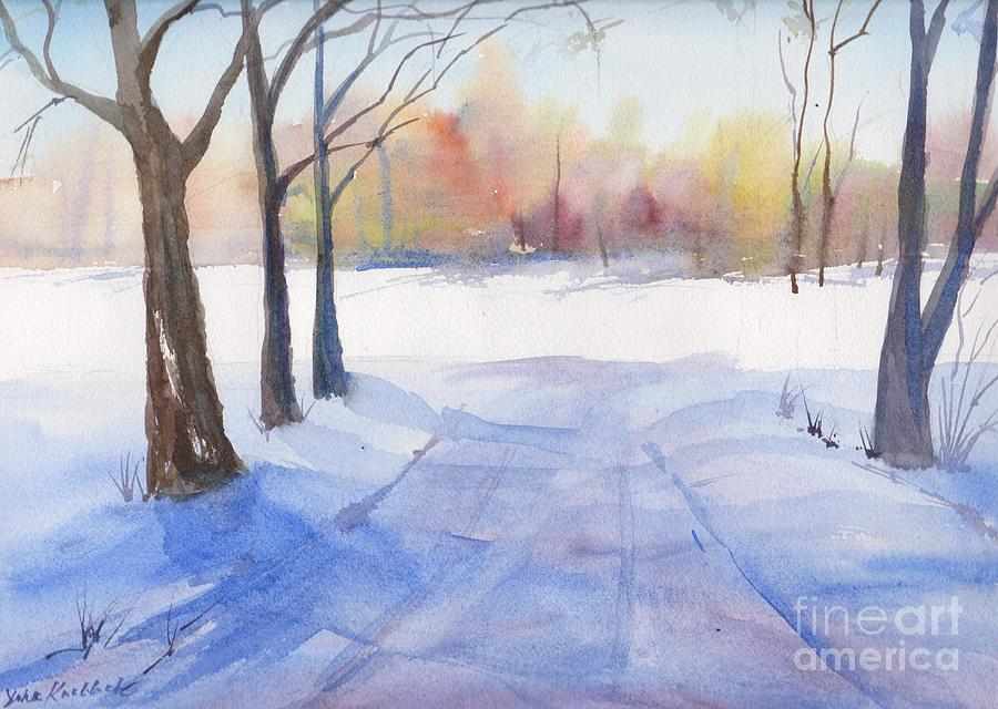 Snow Landscape Painting - Snow Country by Yohana Knobloch