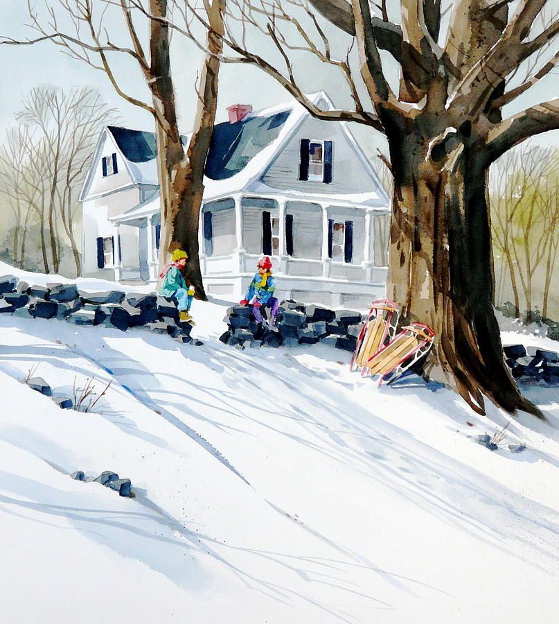 Snow Day Painting by Art Scholz