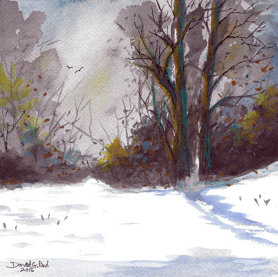 Snow Painting - Snow Day by David G Paul