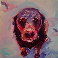 Pets Painting - Snow Dog by Elizabeth Fraser