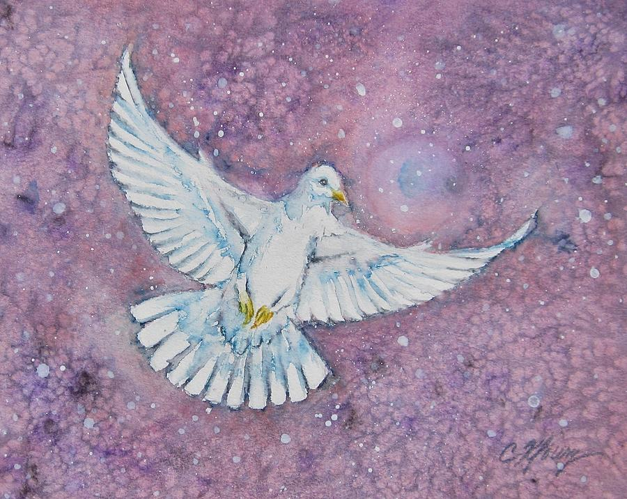 Snow Dove by Christine Kfoury