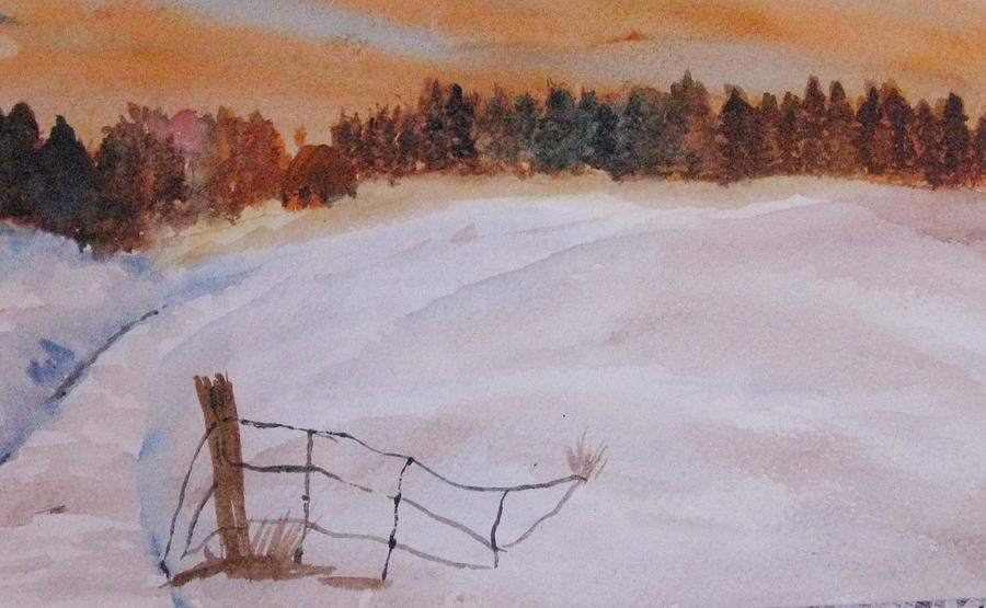 Snow Painting - Snow Drifts by Trilby Cole