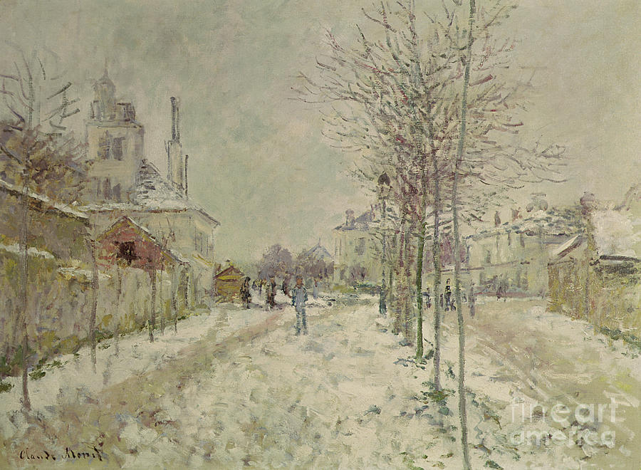 Snow Effect Painting - Snow Effect by Claude Monet