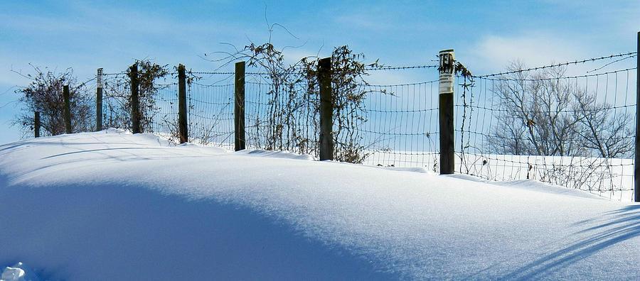 Virginia Photograph - Snow Fence by Joyce Kimble Smith