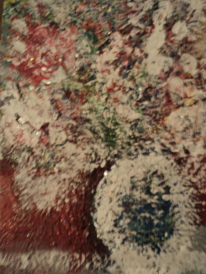 Snow Painting - Snow Globe Gone Wild I by Anne-Elizabeth Whiteway