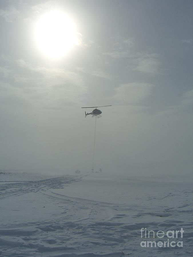 Helicopter Photograph - Snow Heli -25deg by Jim Thomson
