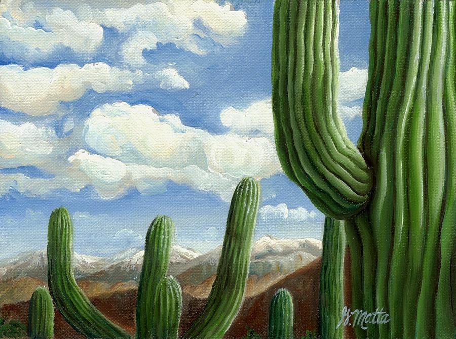 Landscape Painting - Snow in Arizona by Gretchen Matta