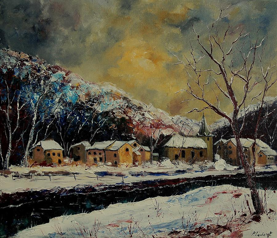 Winter Painting - Snow In Bohan by Pol Ledent