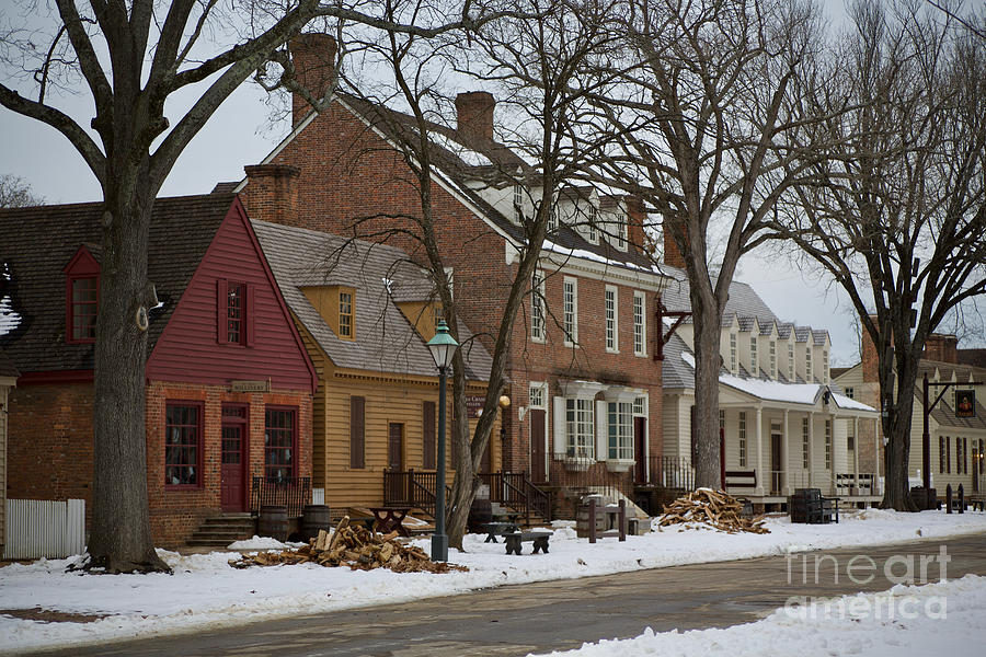 Colonial Williamsburg Photograph - Snow In Colonial Williamsburg  by Lara Morrison