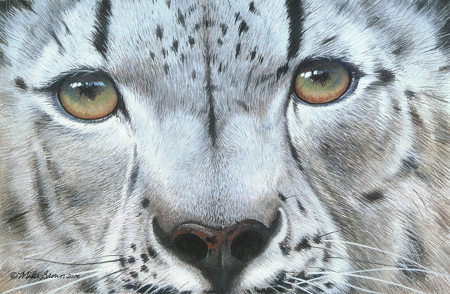 Snow Leopard Painting - Snow Leopard by Mike Brown