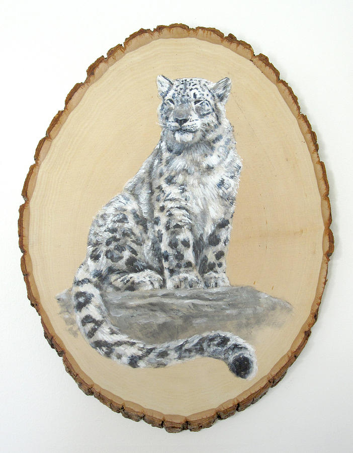Leopard Painting - Snow Leopard - Renewed Perception by Brandy Woods