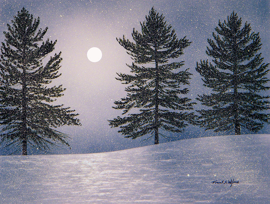 Mountains Painting - Snow Light by Frank Wilson