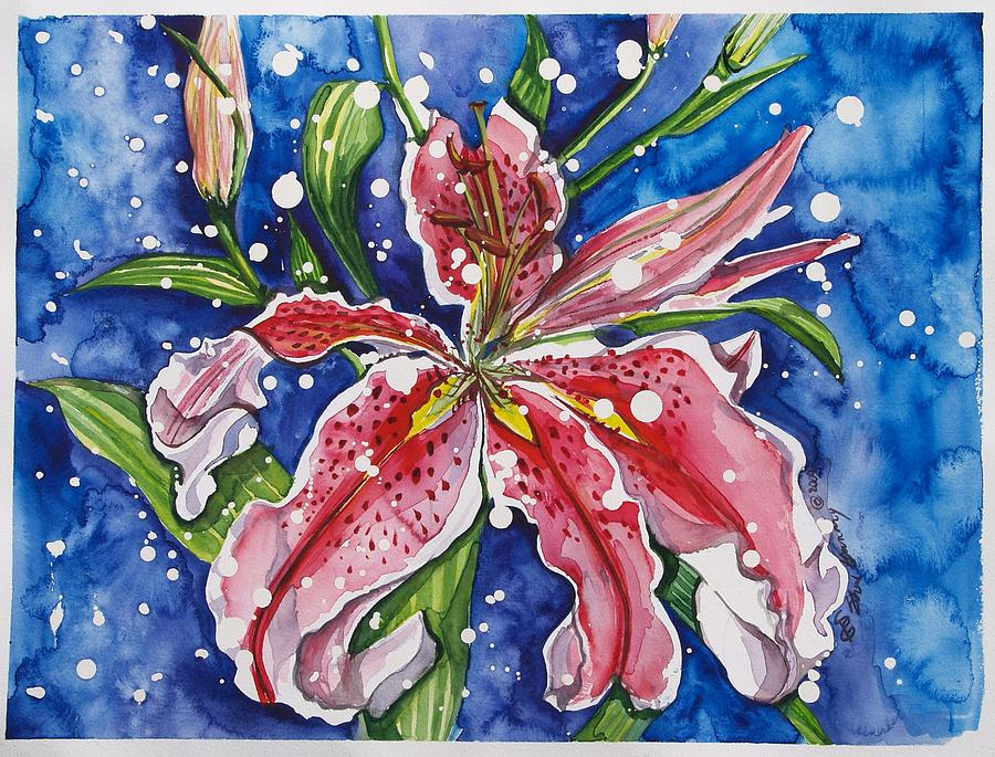 Floral Painting - Snow Lilies by Sheri Gundry