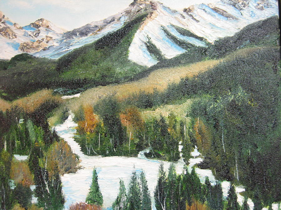 Landscape Painting - Snow Mountain by Brian Hustead