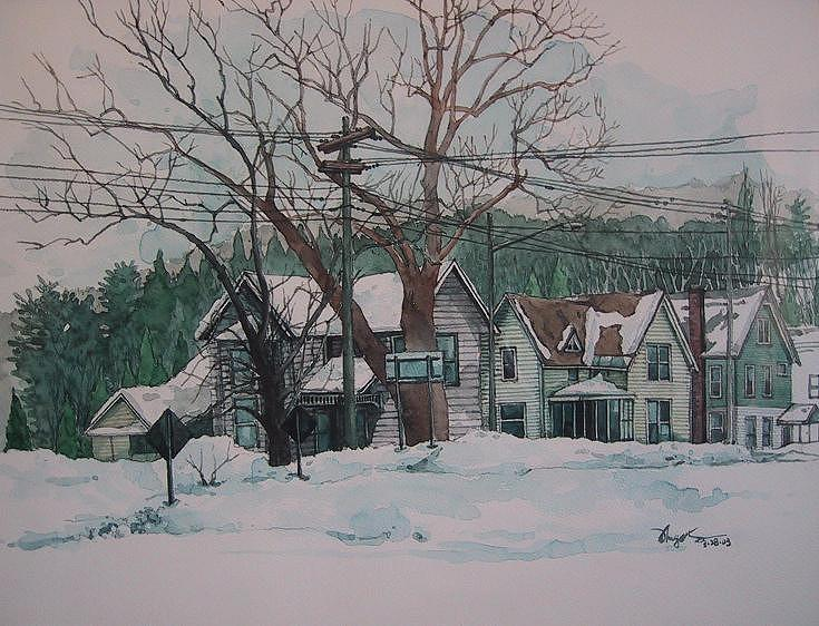 Landscape Painting - Snow Next Door by Richard Ong