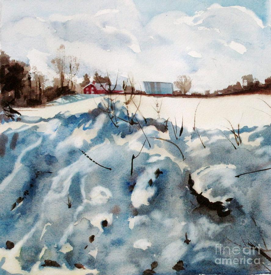 Snow Painting - Snow On Southwick by Elizabeth Carr