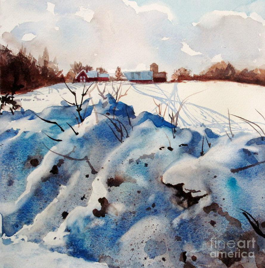 Snow Painting - Snow On Southwick I by Elizabeth Carr
