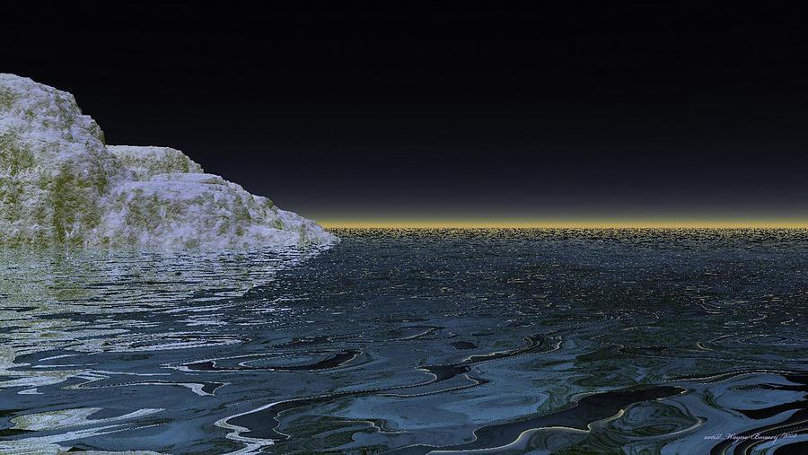 Black Digital Art - Snow On The Black Sea by Wayne Bonney